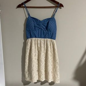 Accidentally in love dress with white dots
